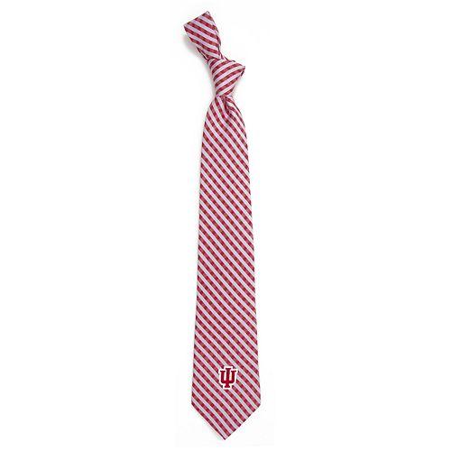 Men's Indiana Hoosiers Gingham Tie