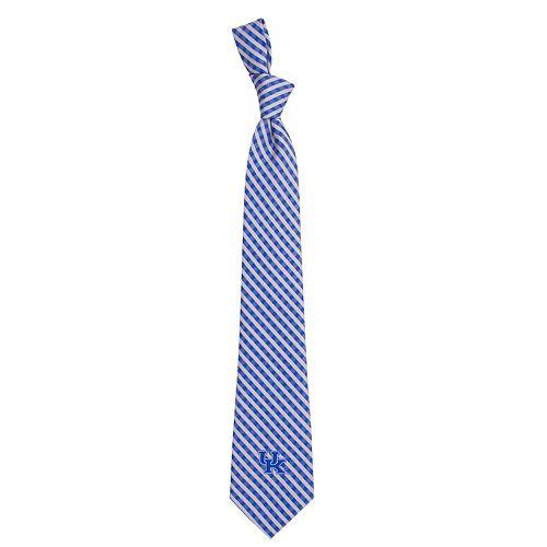 Men's Kentucky Wildcats Gingham Tie