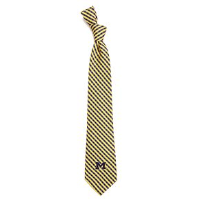 Men's Michigan Wolverines Gingham Tie