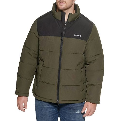 Big & Tall Levi's® Arctic Cloth Quilted Logo Puffer Jacket