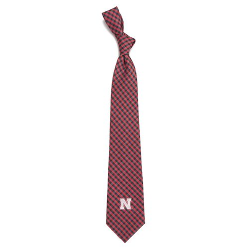 Men's Nebraska Cornhuskers Gingham Tie