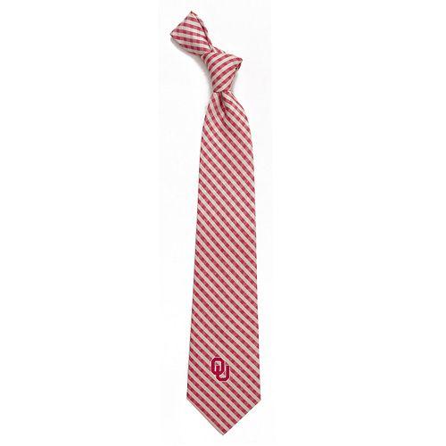 Men's Oklahoma Sooners Gingham Tie