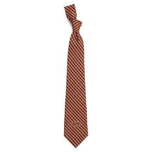 Men's Oklahoma State Cowboys Gingham Tie