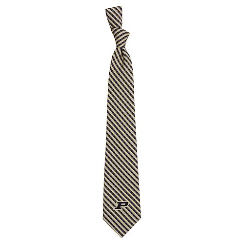 Men's Purdue Boilermakers Gingham Tie