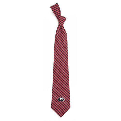 Men's Georgia Bulldogs Gingham Tie