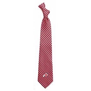 Men's Utah Utes Gingham Tie