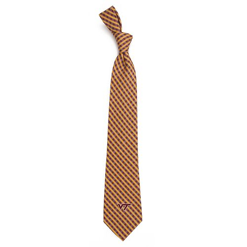 Men's Virginia Tech Hokies Gingham Tie