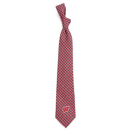 Men's Wisconsin Badgers Gingham Tie