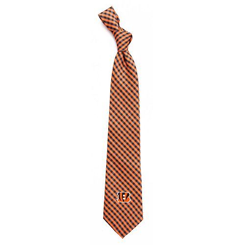 Men's Cincinnati Bengals Gingham Tie