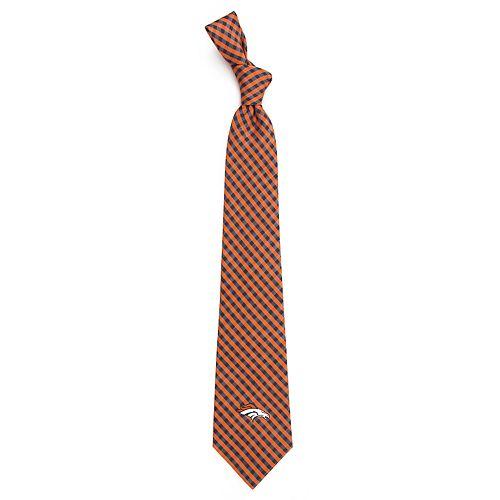 Men's Denver Broncos Gingham Tie