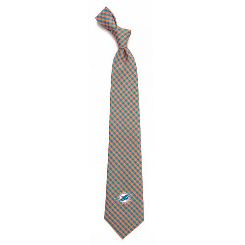 Men's Miami Dolphins Gingham Tie