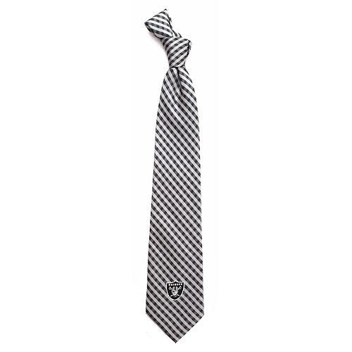 Men's Oakland Raiders Gingham Tie