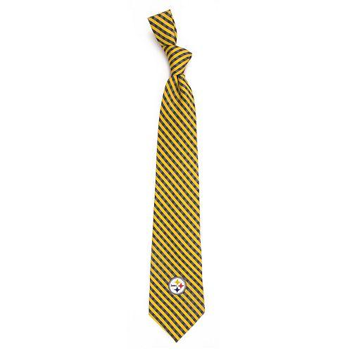 Men's Pittsburgh Steelers Gingham Tie