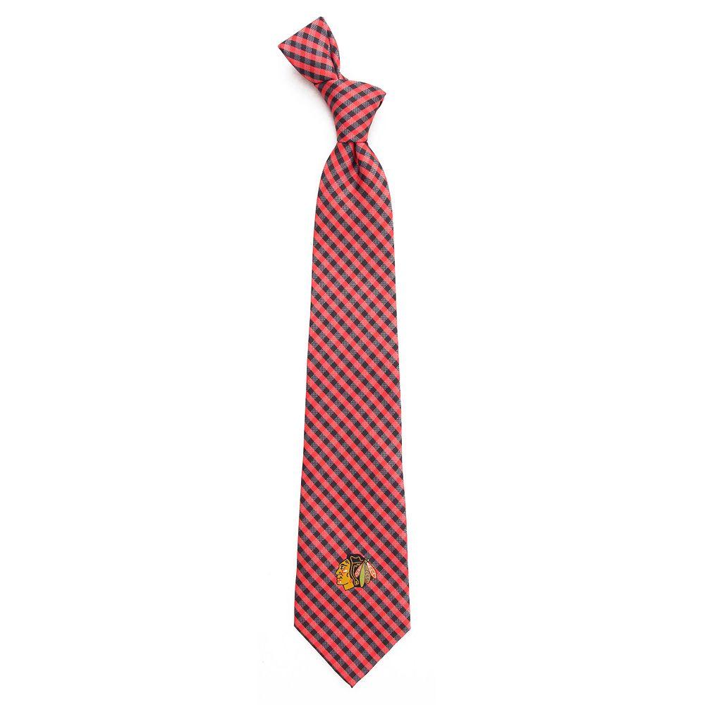 Men's Chicago Blackhawks Gingham Tie