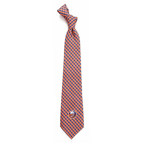 Men's New York Islanders Gingham Tie