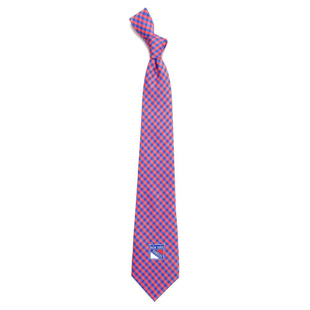 Men's New York Rangers Gingham Tie
