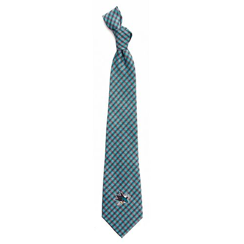 Men's San Jose Sharks Gingham Tie