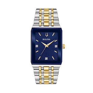 Bulova Men's Quadra Diamond Accent Two Tone Watch - 98D154