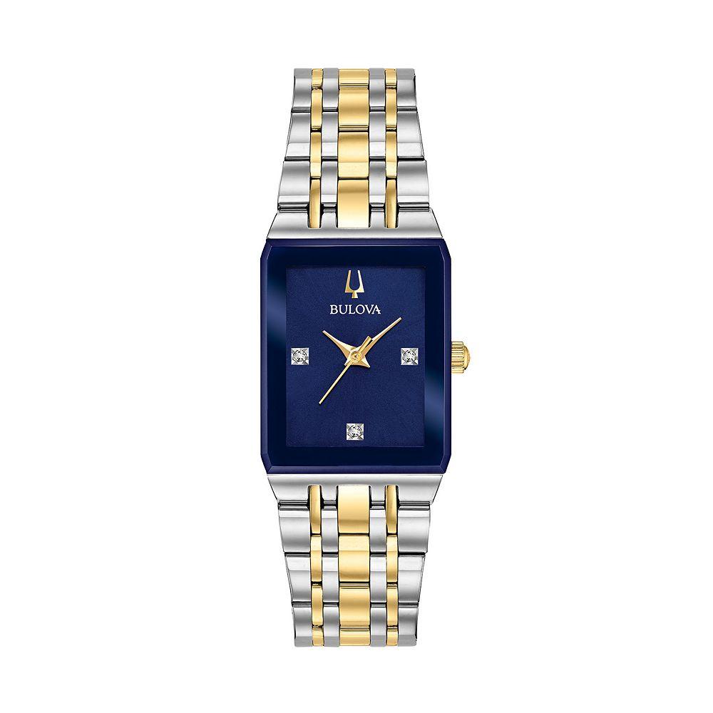 Bulova Women's Quadra Diamond Accent Two Tone Watch - 98P177