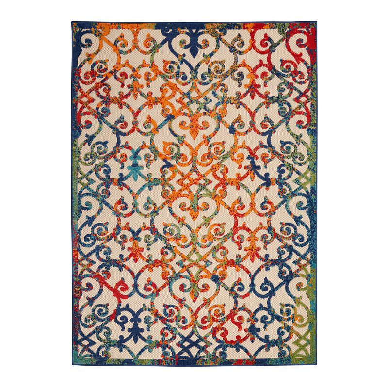 Nourison Aloha Dusk Indoor / Outdoor Rug, 9.5X13 Ft