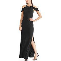 Women's Chaps Cold-Shoulder Evening Dress