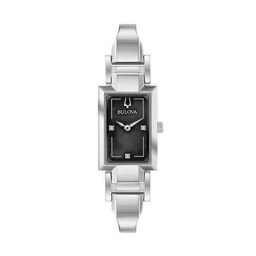 Bulova Women's Diamond Accent Half-Bangle Watch - 96P209