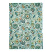 Waverly Sun N' Shade Paisley Indoor Outdoor Rug