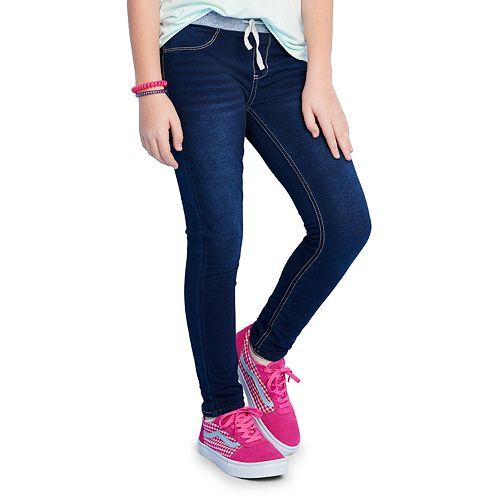 Girls 4-20 & Plus Size SO® Rib Waistband Jeggings