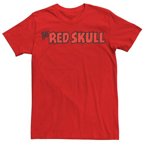 Men's Marvel Red Skull Logo Graphic Tee