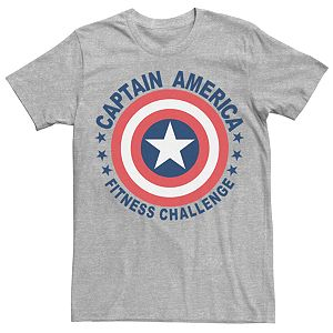 Captain America Avenger Crew Neck Ringer Youth Boys T-Shirt