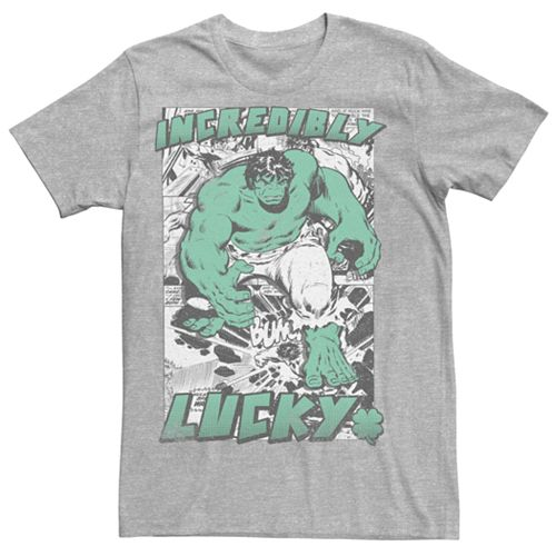 Men's Marvel The Incredible Hulk Incredibly Lucky Graphic Tee
