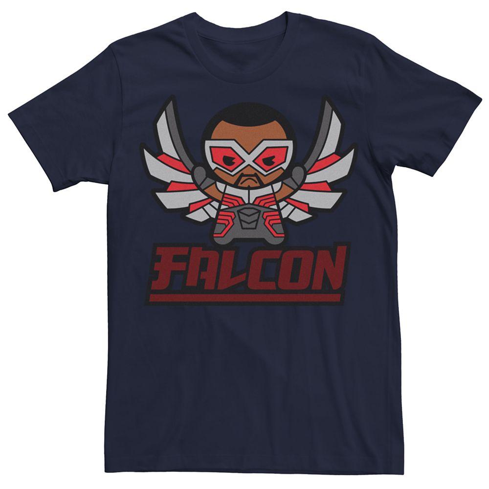 Men's Marvel Kawaii Art Collection Falcon Graphic Tee
