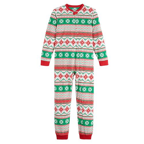 "Kids 4-20 Jammies For Your Families ""We Jingled"" Microfleece One-Piece Pajamas"