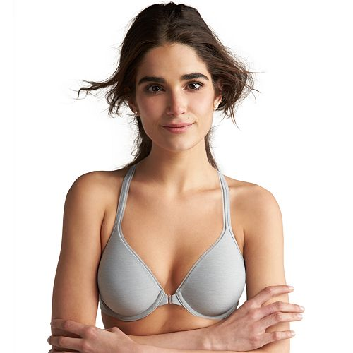 ccdc12d131 Hanes Ultimate Bra  Soft Front-Closure Convertible T-Shirt Bra HU01