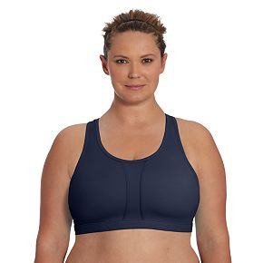 Plus Size Champion Bra: Vented Compression Sports Bra Q6632