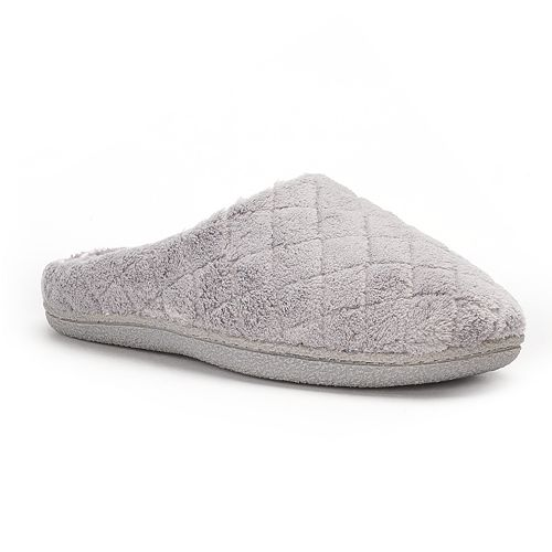 Women's Dearfoams Leslie Quilted Terry Clog Slippers