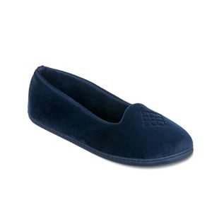 Women's Dearfoams Velour Closed-Back Slippers