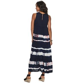 Women's SONOMA Goods for Life? Tiered Challis Dress