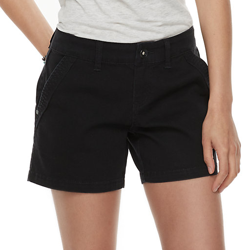 98318ddcd1 Juniors' Unionbay Elsie Stretch Twill Midi Shorts