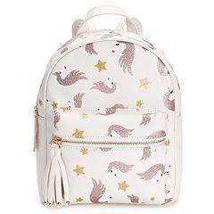 OMG Accessories Glittery Unicorn Print Mini Backpack