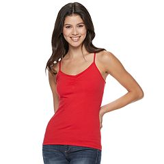 Juniors' SO® Solid Cinched Cami