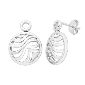 Boston Bay Diamonds Sterling Silver Round Wave Earrings