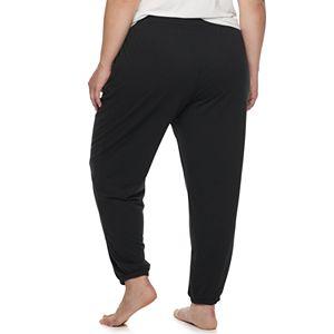 Plus Size Sonoma Goods For Life® Elastic Hem Essential Pajama Pants