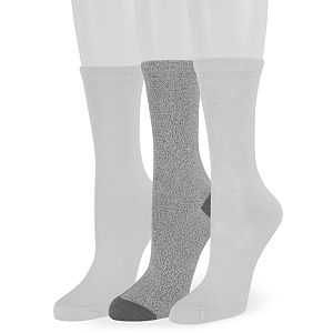 Women's SONOMA Goods for Life 3-Pack Floral Texture Crew Socks