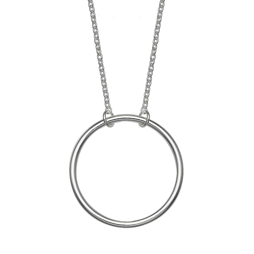 PRIMROSE Sterling Silver Circle Necklace