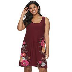Juniors' Plus Size Mudd® Bar-Back Tank Dress