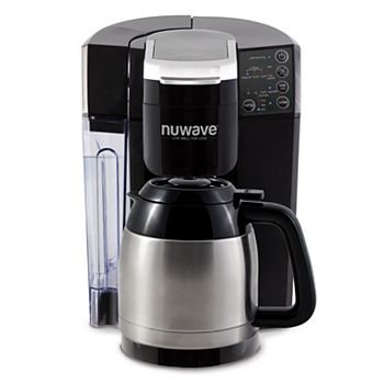NuWave BruHub 3-in-1 Coffee Maker with Stainless Steel Carafe