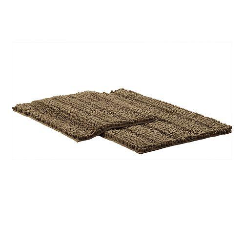 Amrapur 2-piece Chenille Noodle Bath Mat Set