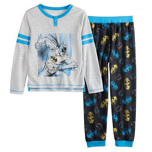 Boys 4-12 Batman 2-Piece Jogger Pajama Set