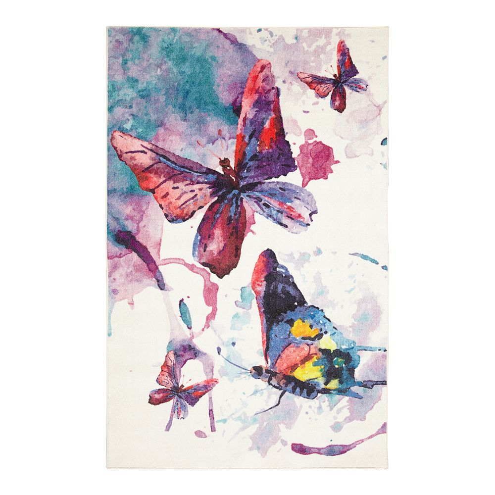 Mohawk® Home Prismatic Watercolor Butterflies EverStrand Rug